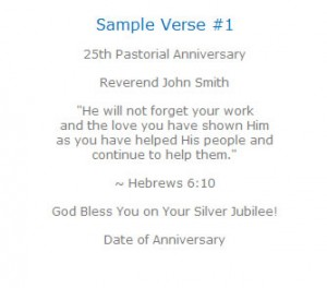 sample of pastor anniversary