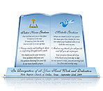 Crystal Plaque for Pastor's Wife