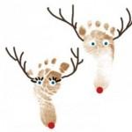 Homemade Pastor Christmas Gifts Ideas for Kids-Footprint/ Handprint Christmas Cards
