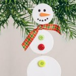 Homemade Pastor Christmas Gifts Ideas for Kids-Snowmen Craft