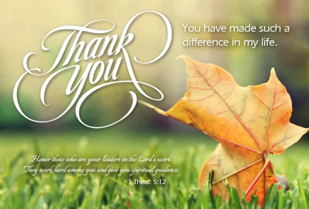 Thank You Notes Appreciating Pastor