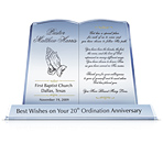 Engraving Your New Year's Wishes on Pastor Appreciation Plaque