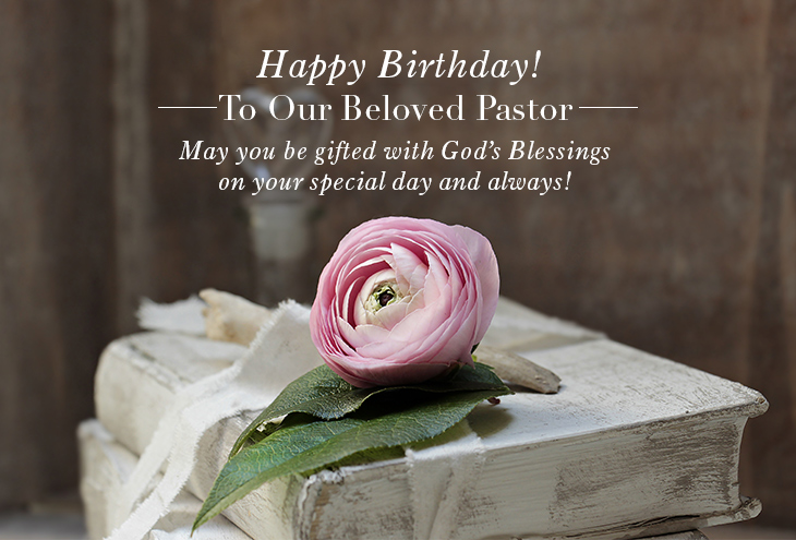 Wording Ideas For Pastor Birthday