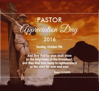 Pastor Appreciation Day 2016