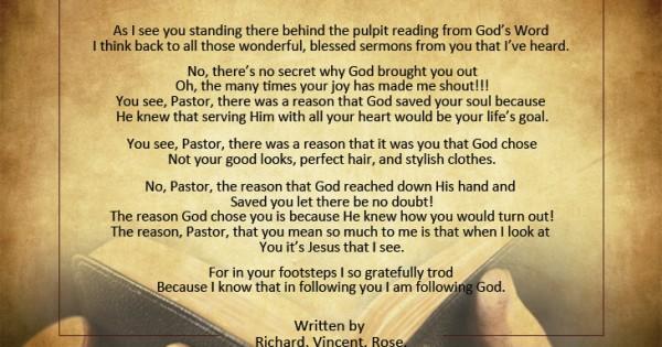 Pastor Appreciation Poems | Pastor-Gifts.com