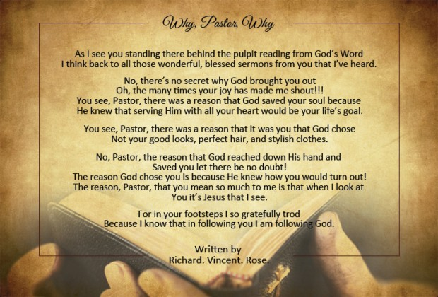 Pastor Appreciation Poems | Pastor-Gifts.com