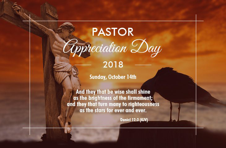 Pastor Appreciation Day 2016 is Oct 9