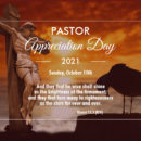 Pastor Appreciation Day - Sunday October 10th, 2021